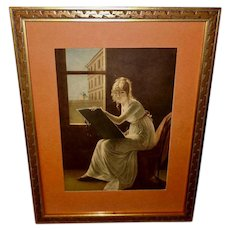 Marie-Denise Villers Vintage Print of Young Woman Drawing