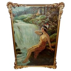 F. R. Harper Vintage Print of Native American Indian Maiden