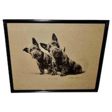 Morgan Dennis Vintage Scottie Dog Print of Listen