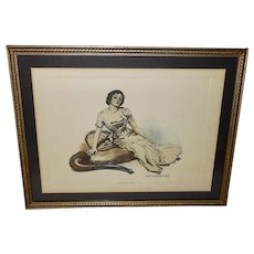 James Montgomery Flagg Vintage Print of Beautiful Lady