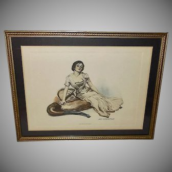 James Montgomery Flagg Vintage Print of Beautiful Lady