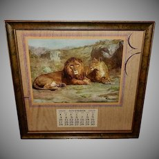 Rosa Bonheur Two Lions November 1929 Calendar
