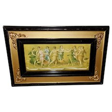 Small Vintage Print of the Muses by Peruzzi