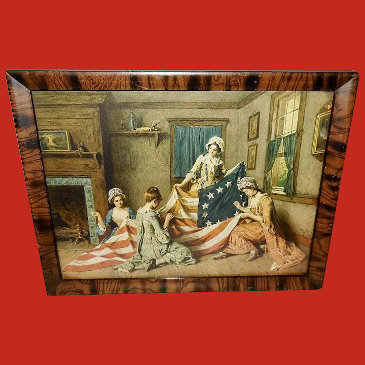 picture regarding Betsy Ross Printable Pictures named Henry Mosler Classic Print of Betsy Ross and Delivery of Flag