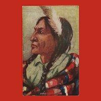 Vintage Postcard of Indian Chief