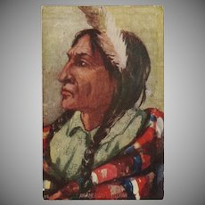 Vintage Postcard of Indian Chief