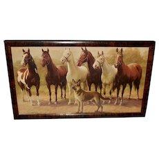 Zula Kenyon Small Calendar Print of Horses and Dog
