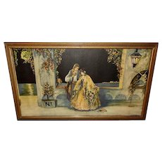 Marygold Vintage Print of Tryst at Carnival Time