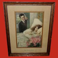 Vintage Print of the Family Jewel Mother Father and Baby