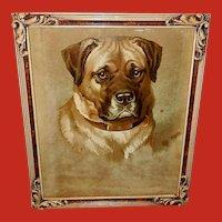 Helena Maguire Chromolithograph of Mastiff Dog