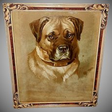 Helena Maguire Chromolithograph of Mastiff Dog