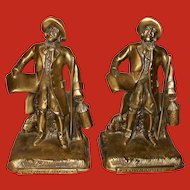 Town Crier Bookends by Philadelphia Master Craftsman