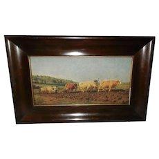 Rosa Bonheur Vintage Print of Oxen Plowing