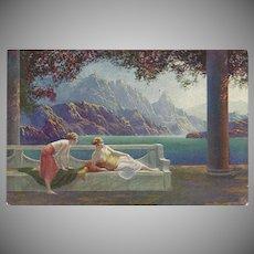 Raphael Tuck Oilette Postcard by Jean LaSalle of Women in Fantasy Setting