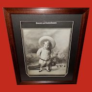 Embossed Child Advertising Print Grocers and Confectioners