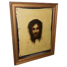 House of Art Print of Jesus on Veronica's Veil Eyes Open and Close