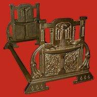 Judd Expandable Sliding Book Rack Art Nouveau Style
