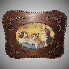 Vintage Print of Three Kittens by E. Graham