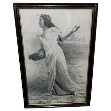 Vintage Print of Art Nouveau Style Lady Titled Spring