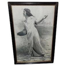Vintage Print of Art Nouveau Style Lady Titled Spring
