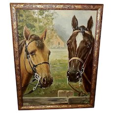 R. Atkinson Fox Vintage Print of Two Horses
