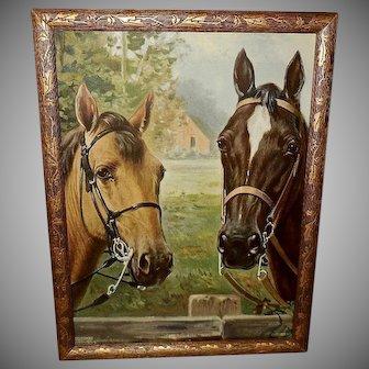 R. Atkinson Fox Vintage Print of Two Horses