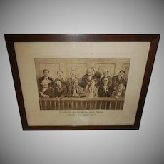 E. W. Gustin 1911 Print of Jury of Twelve Good Men