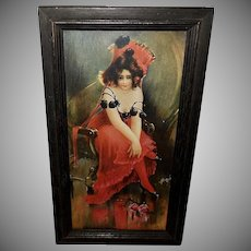 James Ross Bryson 1903 Print of Lady in Red