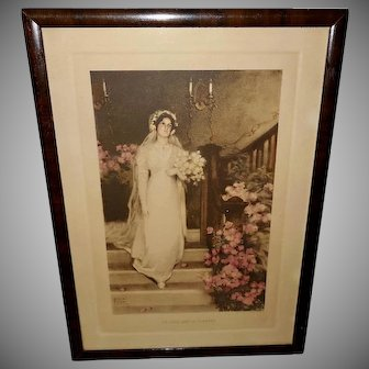 Bessie Pease Gutmann 1911 Vintage Print of Bride