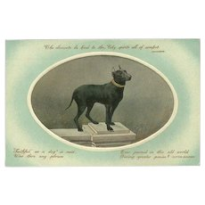 Vintage German Postcard with Praise For Dogs