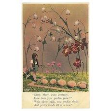 British Vintage Photogravure  J Arthur Dixon Nursery Rhyme Postcard