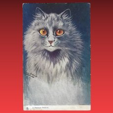 Raphael Tuck Oilette Louis Wain Postcard of Persian Cat
