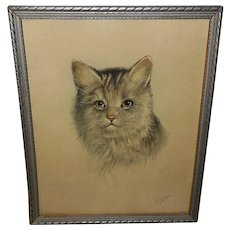 P.H. Schor Vintage Cat Print 1 of 2 Donald Art Company