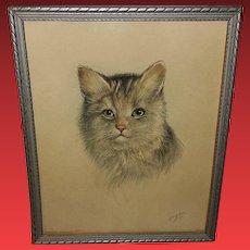 P.H. Schor Vintage Cat Print 1 of 2 Donald Art Company