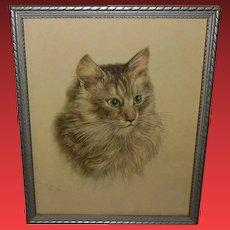 P.H. Schor Vintage Cat Print 2 of 2 Donald Art Company