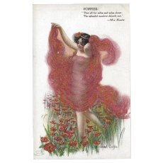 W. Haskell Coffin Postcard of Poppies Flowers
