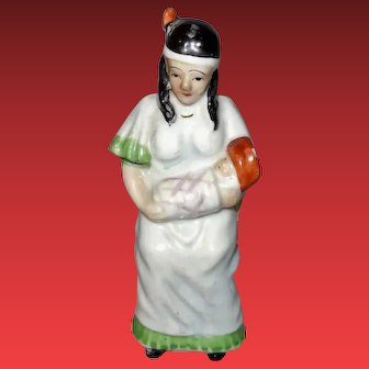 Occupied Japan Figurine of Indian Woman Holding Baby