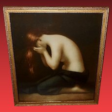 Vintage Print of Mary Magdalene by Jean Jacques Henner