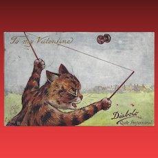 Louis Wain Raphael Tuck 1908 Cat Valentine Card
