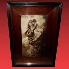Shadow Box with Campbell Art Company Print of Mary and Jesus