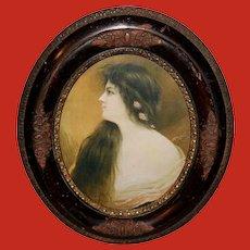 J. Ross Bryson Vintage 1902 Print of Marie