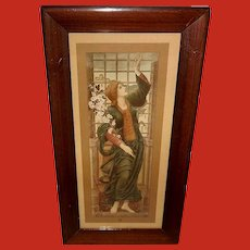 Edward Burne-Jones Vintage Print of Hope