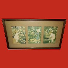 Jessie Willcox Smith Vintage Triptych Prints of Three Senses