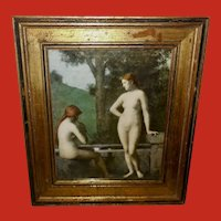 Jean Jacques Henner Vintage Print of  Women by Fountain