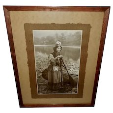 Advertising Photo Print of Cattaraugus Indian Maiden Princess