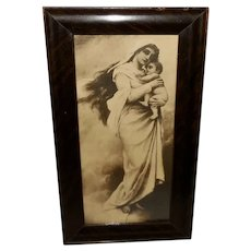 Von Bodenhausen Small Vintage Sepia Print of Mary and Jesus