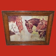 R. Atkinson Fox Vintage Print of Four Horses
