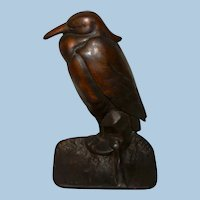 Albany Foundry Company Cast Iron Heron Bird Doorstop