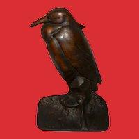 Albany Foundry Company Cast Iron Heron Bird Doorstop