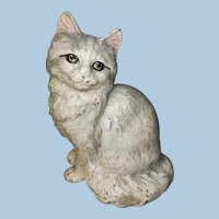 Hubley Signed Cast Iron Persian Cat Doorstop No. 302